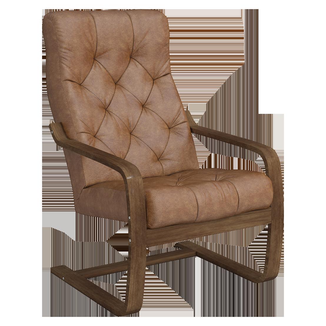 Кресло для отдыха Эльба Люкс (Плутон 04 темный орех)