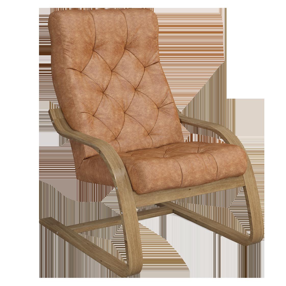 Кресло для отдыха Капри Люкс (Плутон 060 светлый орех)
