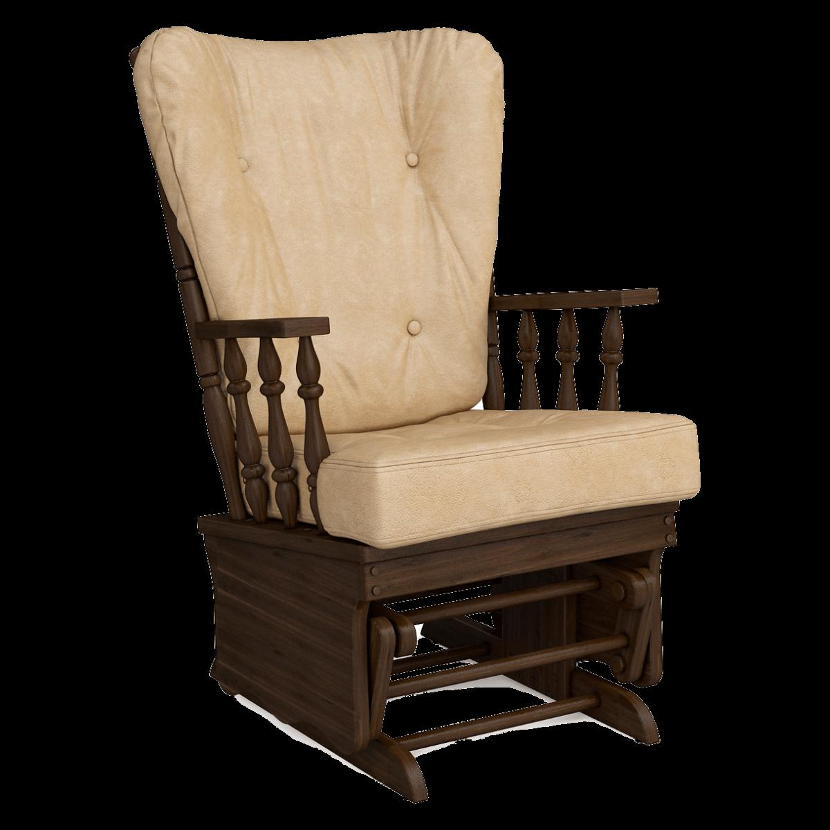 Кресло-качалка Джильо (Плутон 603 дуб темный орех)