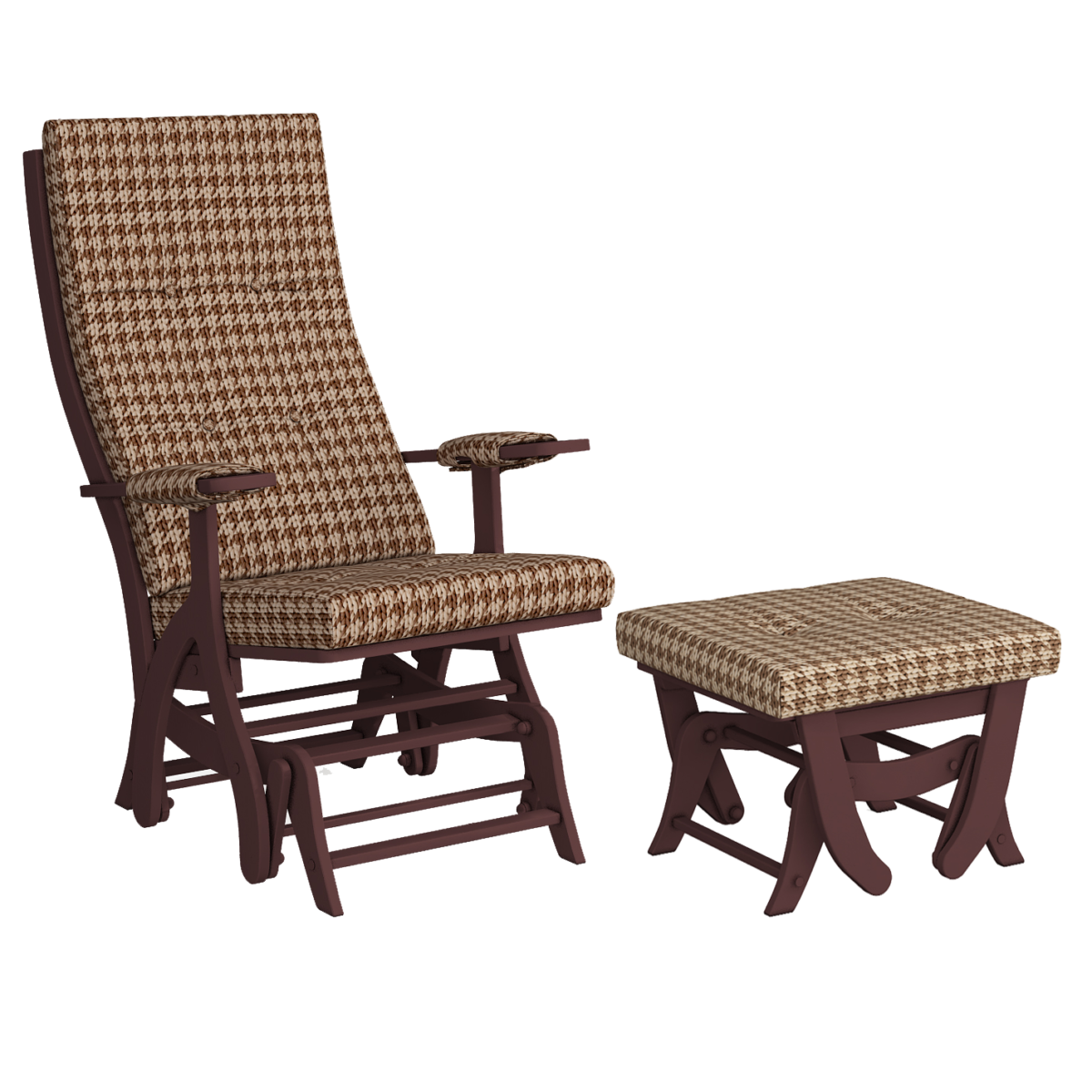 Комплект Капрера (кресло-качалка + пуф) темный орех Xpoint 0241.03