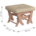Комплект Капрера (кресло-качалка + пуф) светлый орех Лама 729