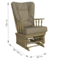 Комплект Джильо (кресло-качалка + пуф) дуб светлый орех Кордова Грис