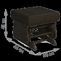Комплект Джильо (кресло-качалка + пуф) дуб венге Кордова Кастано
