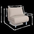 Кресло-кровать Алекс (Сноу 03)