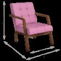 Кресло Селин (Импульс Лилак, темный орех)