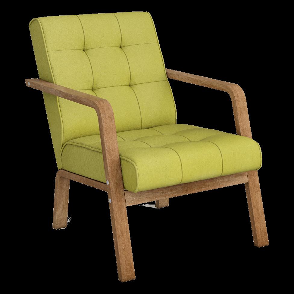 Кресло Селин (Импульс Грин, светлый орех)